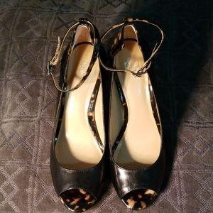Ann Taylor peep toe pumps size 8.5 M